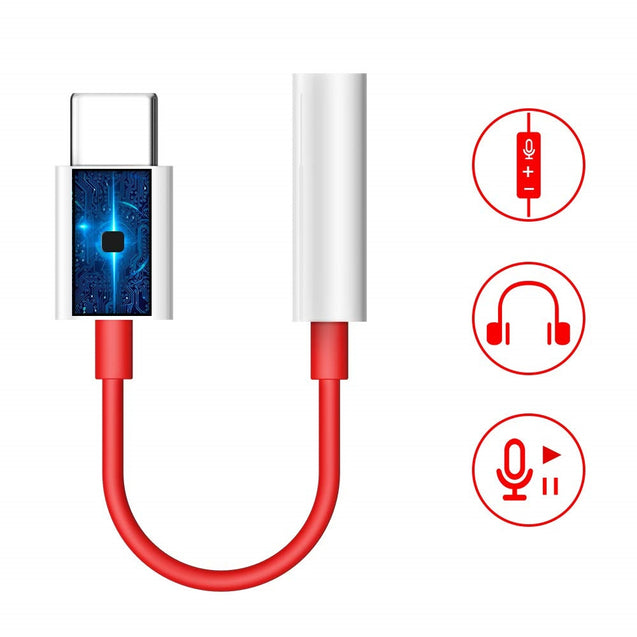 Type C To 3.5mm Earphone Jack Adapter for OnePlus 7 Pro / OnePlus 7 /P30 Pro/P30 - SunnySplit