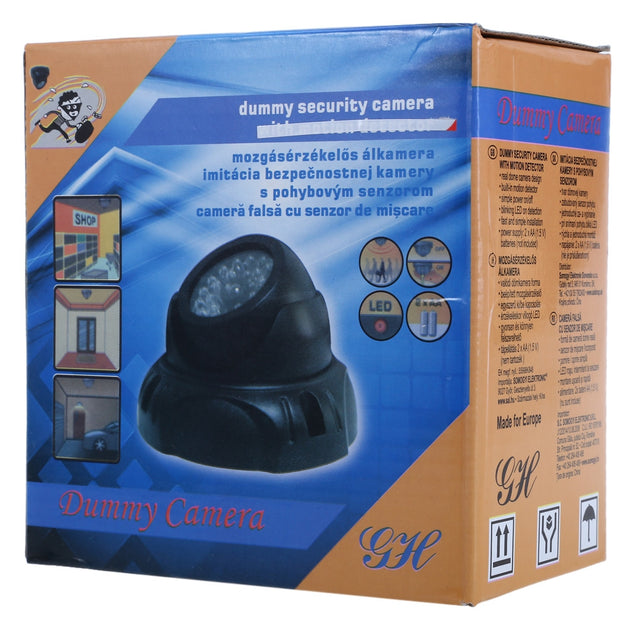 Realistic Dummy Surveillance Security Dome Camera with Flashing LED Red Light - SunnySplit
