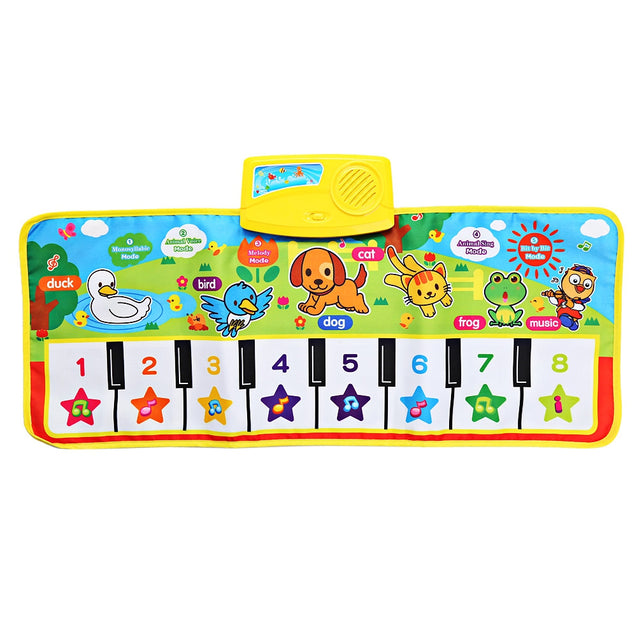 Baby Musical Cartoon Animal Piano Play Mat Language Learning Toy - SunnySplit