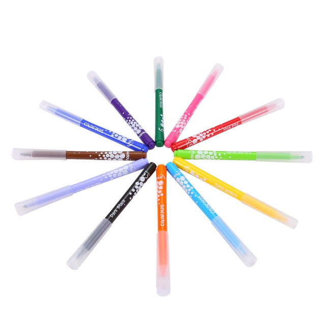 Maped 12 Colors Watercolor Brush Pen Water Based Marker for Daily Using - SunnySplit