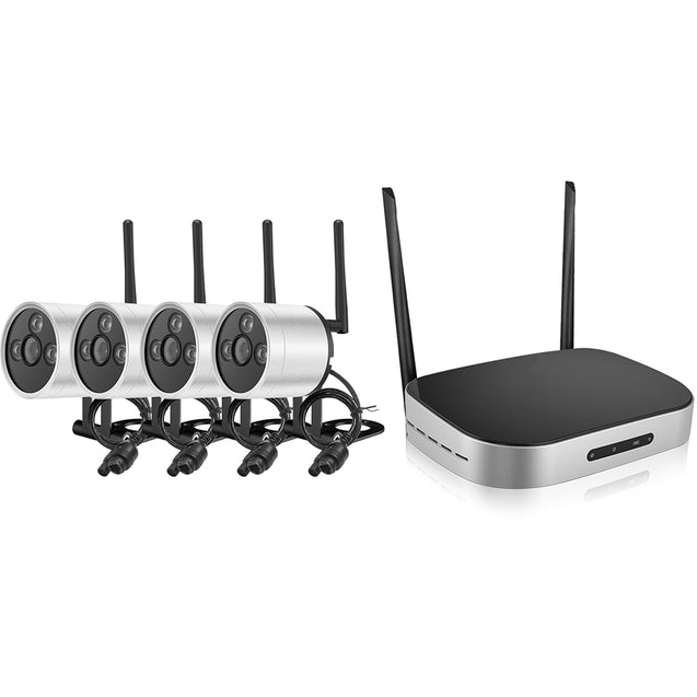 960P Wireless 4 / 8 Channel NVR Kit with 4 IPC - SunnySplit