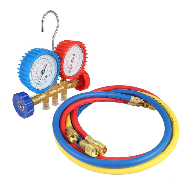 Refrigerant Tables Manifold Gauges Tool Set - SunnySplit