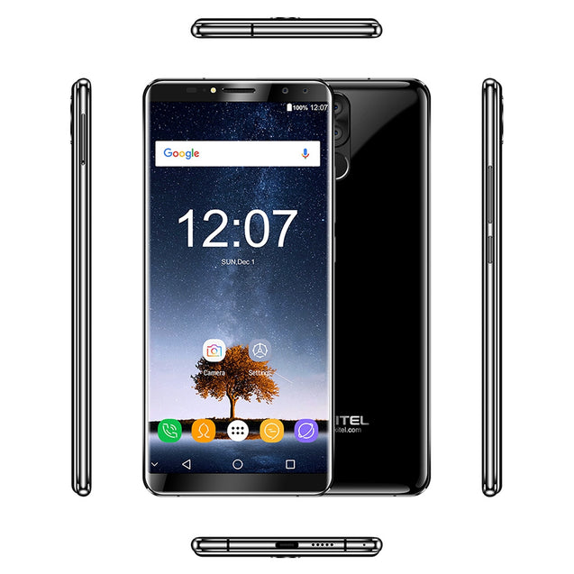 OUKITEL K6 4G Phablet 6.0 inch Android 7.1 MTK6763 Octa Core 2.0GHz 6GB RAM 64GB ROM 6300mAh Battery Four Cameras Fingerprint Recognition - SunnySplit