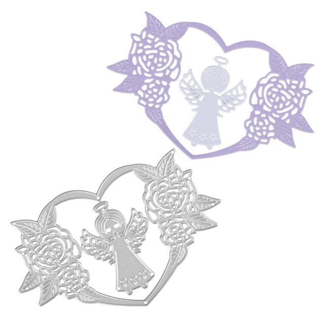 Adorable Angel Design Metal Cutting Dies for Greeting Card Cover Photo Album - SunnySplit