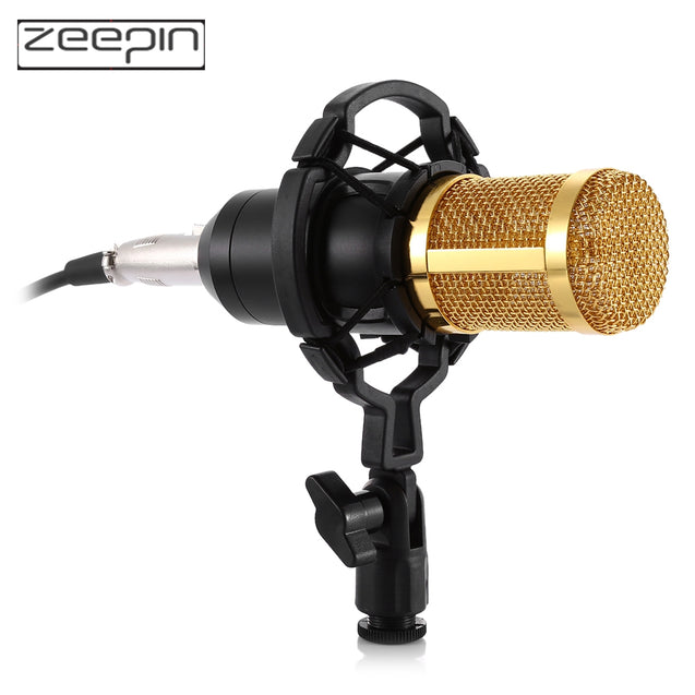 ZEEPIN BM - 800 Audio Sound Recording Condenser Microphone with Shock Mount - SunnySplit