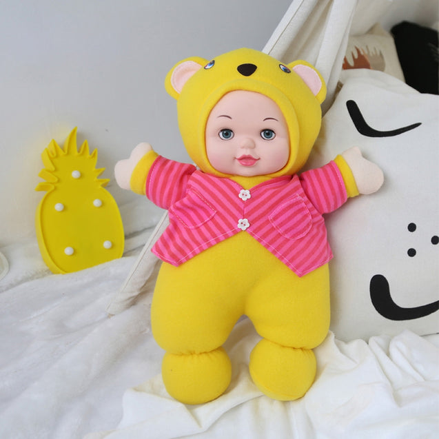 T1652A Children Stuffed Yellow Cartoon Bear Doll Birthday Gift - SunnySplit