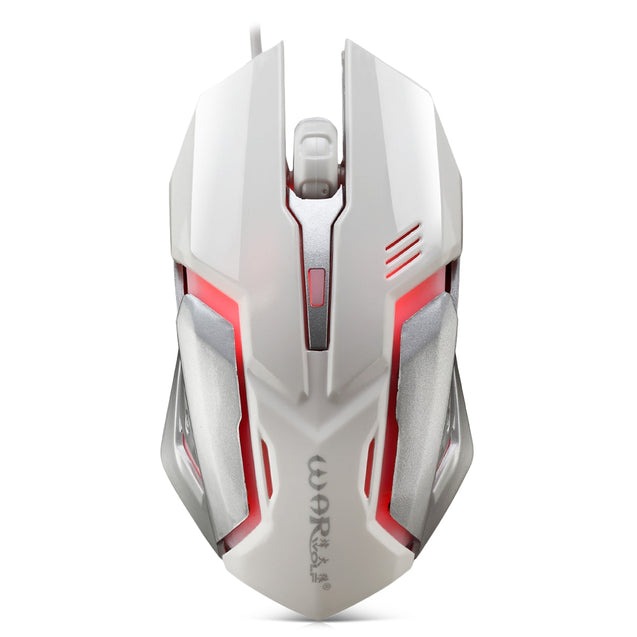 Warwolf M - 02 Wired Gaming Mouse Adjustable DPI Colorful LED Light - SunnySplit