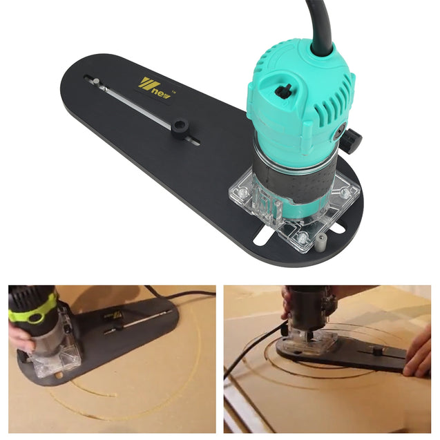 Circle Cutting Jig for Electric Hand Trimmer Wood Router - SunnySplit