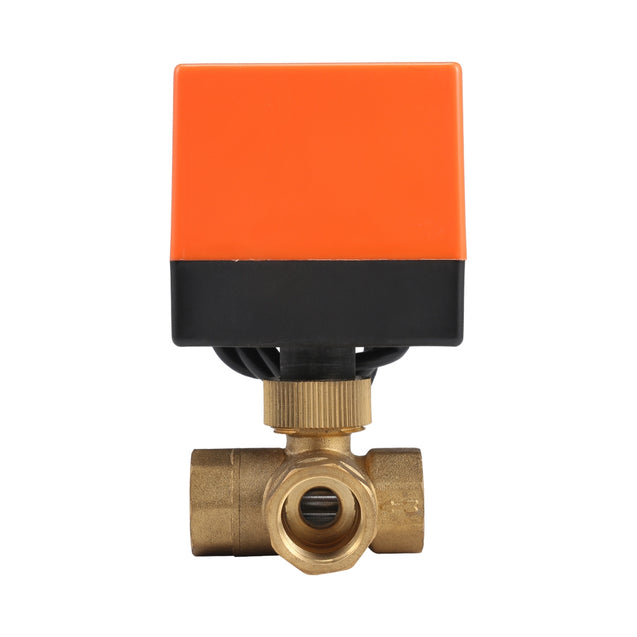 230V Electric Motorized Thread Ball Valve Air-conditioning Water System Controller 3-way 3-wire - SunnySplit