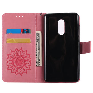 Yanxn Sun Flower Printing Design Pu Leather Flip Wallet Lanyard Protective Case for Xiaomi Redmi Note 4 / 4X - SunnySplit