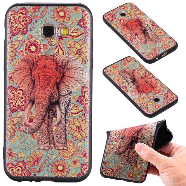 3D Embossed Color Pattern TPU Soft Back Case for Samsung Galaxy A5 2017 - SunnySplit
