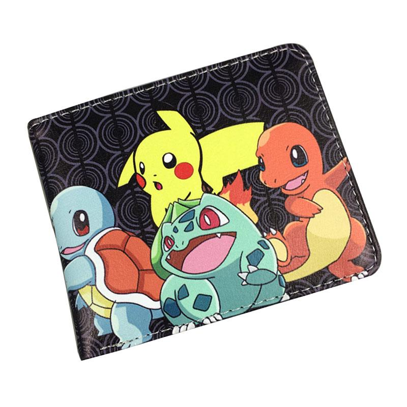 2017 New Arrival Pokemon Walle Games Cartoon Anime Pocke Monster Purse Lovey Pikachu Prin Dollar Money Bag Kids Shor Wallets