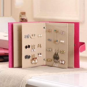 2018 New Fashion Hot Popular Jewelry Box Storage Organizer Necklace Bracelet Ring Earring Case Holder Book
