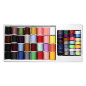 60pcs Assorted Colors Sewing Thread Spools Storage Organizer Holder