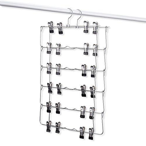 Products emstris skirt hangers pants hangers closet organizer stainless steel fold up space saving hangers