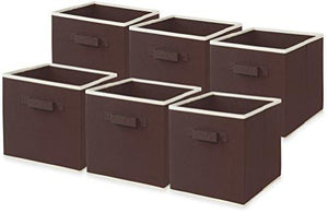 - Simplehouseware Foldable Cube Storage Bin, Brown