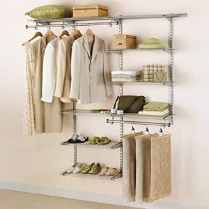 Select nice rubbermaid configurations 3h8800 3 to 6 foot deluxe custom closet kit