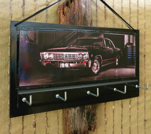 Muscle Car Print Key Rack Hook Hanger