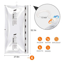 Load image into Gallery viewer, Selection taili hanging vacuum space saver bags for clothes 4 pack long 53x27 6 inches vacuum seal storage bag clothing bags for suits dress coats or jackets closet organizer and storage
