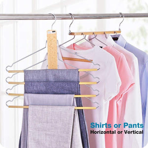 The best bestool pants hangers wooden pant hangers non slip wood hangers clothes hangers for closet space saving heavy duty coat hanger huggable baby hangers dual use trouser hanger