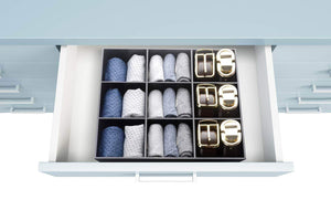 Shop luxury and stylish acrylic organizer fine and elegant gift keep belts socks ties underwear panties briefs boxers scarves organized drawer divider closet and storage box