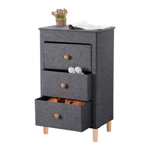Explore kamiler 3 drawer dresser nightstand beside table end table storage organizer tower unit for bedroom hallway entryway closets removable fabric bins no tool required to assemble