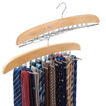 Load image into Gallery viewer, Kitchen ezoware 2 pack belt hangers adjustable 24 tie belt scarf racks holder hook hanger for closet organizer storage beige
