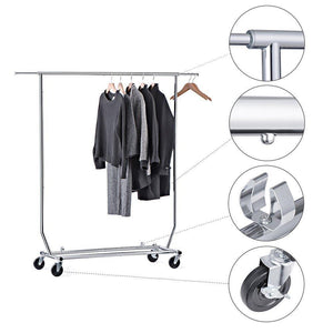Heavy duty house day portable clothes rack portable closet rolling clothes rack foldable clothes stand commercial grade for professional use