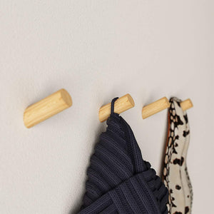 Get wall hooks 4 pack wooden large for hanging coats caps scarfs storage wall mount command hooks kit heavy duty wall hangers without nails organizer closet