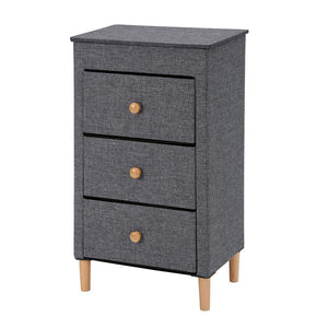 Get kamiler 3 drawer dresser nightstand beside table end table storage organizer tower unit for bedroom hallway entryway closets removable fabric bins no tool required to assemble