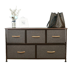 Selection home dresser storage tower sturdy steel frame mdf wood top removable drawers height adjustable feet storage organizer for room hallway entryway closets 5 drawers espresso 39 5w 21 5h