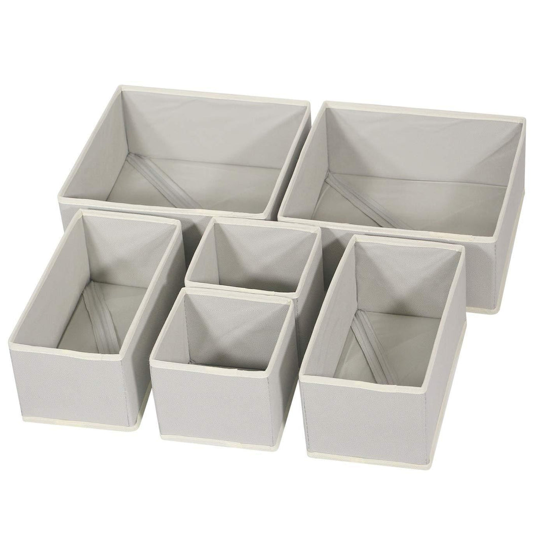 On amazon diommell foldable cloth storage box closet dresser drawer organizer fabric baskets bins containers divider with drawers for clothes underwear bras socks lingerie clothing set of 6