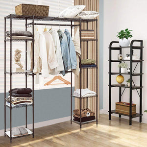 Order now tangkula garment rack portable adjustable expandable closet storage organizer system home bedroom closet shelves clothes wardrobe coffee