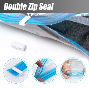 Budget friendly mrs bag hanging vacuum storage bags 4 jumbo57x27 6 space saver bag dress cover with hook for coats jackets clothes closet storage hand pump included