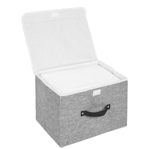Order now storage bins set meelife pack of 2 foldable storage box cube with lids and handles fabric storage basket bin organizer collapsible drawers containers for nursery closet bedroom homelight gray