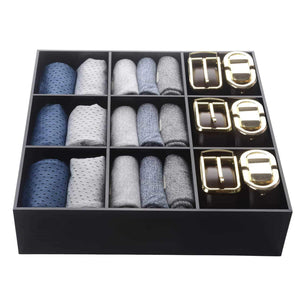Select nice luxury and stylish acrylic organizer fine and elegant gift keep belts socks ties underwear panties briefs boxers scarves organized drawer divider closet and storage box