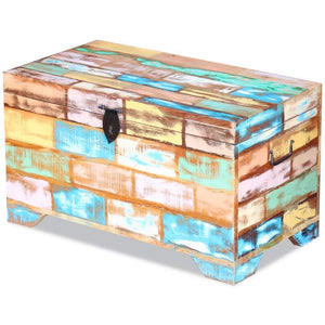 The best fesnight reclaimed wood storage chest lockable wooden storage box trunk cabinet with handles for bedroom closet home organizer collection furniture decor 28 7 x 15 4 x 16 1l x w x h