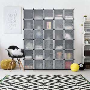 Buy tangkula cube storage organizer cube closet storage shelves diy plastic pp closet cabinet modular bookcase large storage shelving with doors for bedroom living room office 30 cube