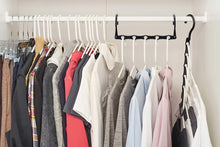 Load image into Gallery viewer, The best house day black magic hangers space saving clothes hangers organizer smart closet space saver pack of 10 with sturdy plastic for heavy clothes
