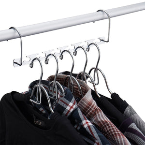 Online shopping doiown space saving hangers 4 pack closet organizer hanger stainless steel clothing hangers 4 pack