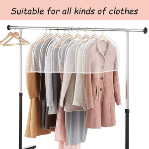 Order now keegh garment shoulder covers bagset of 12 breathable closet suit organizer prevent clothes shoulder from dust 2 gusset hold more coats jackets dress