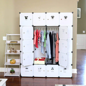 Great unicoo diy 20 cube organizer cube storage bookcase toy organizer storage cabinet wardrobe closet deeper cube white