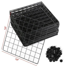 Load image into Gallery viewer, Shop unicoo multi use diy 12 cube wire grid organizer bookcase bookshelf storage cabinet wardrobe closet toy organizer wire cube storage black wire