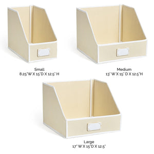 Get g u s ivory linen closet storage organize bins for sheets blankets towels wash cloths sweaters and other closet storage 100 cotton large
