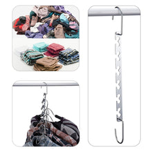 Load image into Gallery viewer, Order now doiown space saving hangers 4 pack closet organizer hanger stainless steel clothing hangers 4 pack