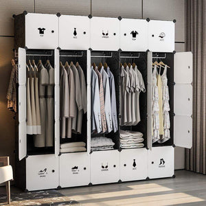 Online shopping george danis portable wardrobe clothes closet plastic dresser multi use modular cube storage organizer bedroom armoire black 18 inches depth 5x5 tiers