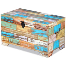 Load image into Gallery viewer, Storage organizer fesnight reclaimed wood storage chest lockable wooden storage box trunk cabinet with handles for bedroom closet home organizer collection furniture decor 28 7 x 15 4 x 16 1l x w x h