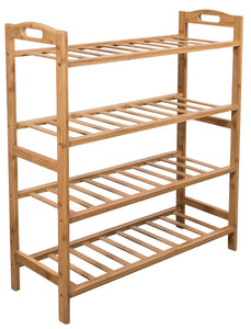 Buy sorbus bamboo shoe rack 4 tier shoes rack organizer perfect bench for hallway entryway mudroom closet bedroom etc