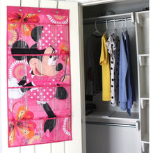 Load image into Gallery viewer, Storage organizer minnie mouse shoe organizer by disney 16 pocket hanging shoe organizer for closet and bedroom storage disney over the door shoe organizer for children kids toys