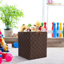 Load image into Gallery viewer, Shop here sorbus foldable storage cube woven basket bin set built in carry handles great for home organization nursery playroom closet dorm etc woven basket bin cubes 2 pack chocolate